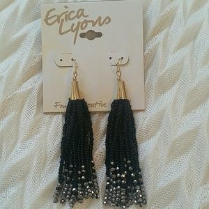 Erica Lyons Beaded Drop Pierced Earrings
